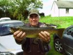 Stanley Aspinal with a Donegal brown trout