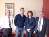 Moyola Committee members Willie Darragh, Seamus Donnelly and Philip maguire with the Minister.