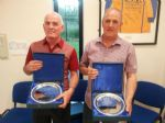 Tommy Mc Grath has held the post of competiton secretary for 30 years and Mervyn Finlay who has been a key committee member for 30 years