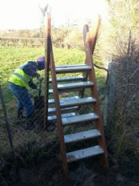 One of the first Stile to be fitted at Lisnamuck.