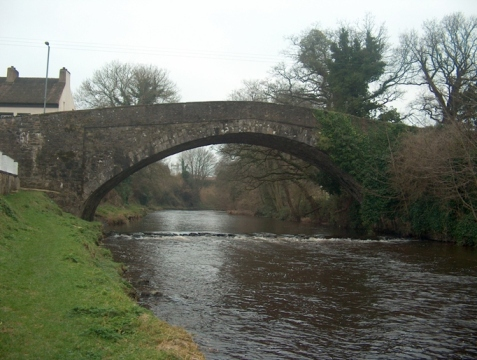 The famous single-span bridge over the Moyola in Castledawson