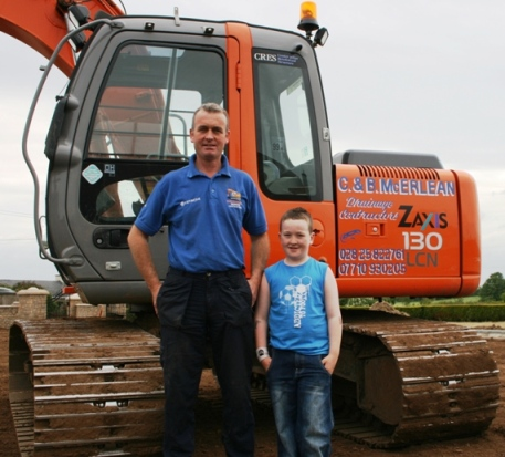 Brian McErlean with his son Conal